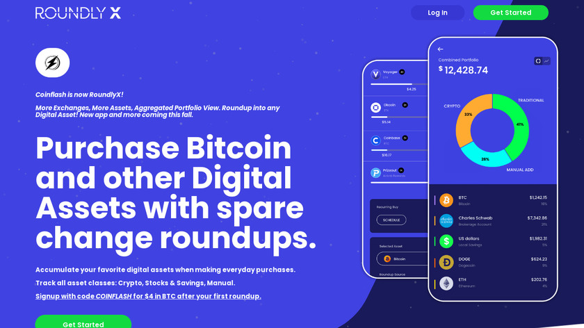 Coinflash Landing Page