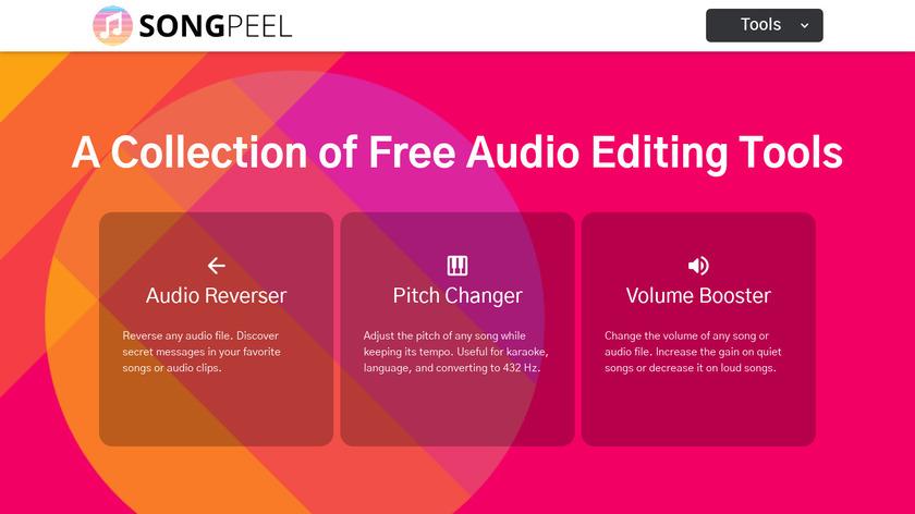 Song Peel Landing Page