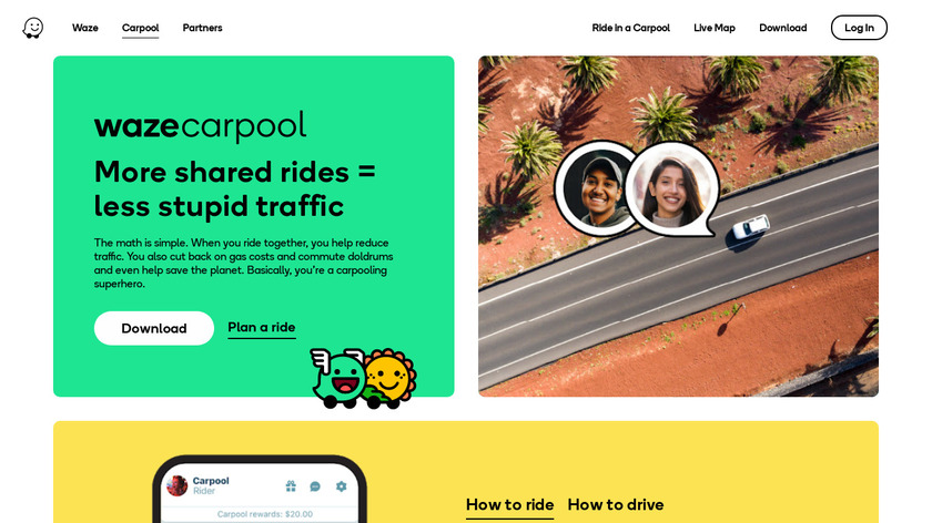 RideWith Landing Page