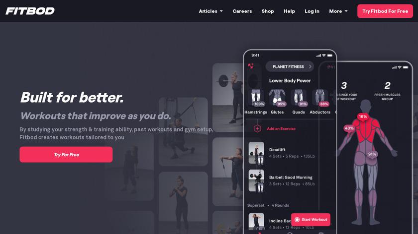 Fitbod Landing Page