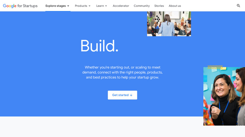 Startup with Google Landing Page