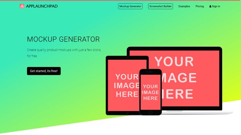 Mockup Generator Landing Page