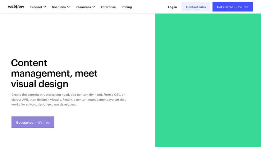 Webflow CMS Landing Page