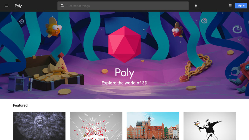 Poly by Google Landing Page