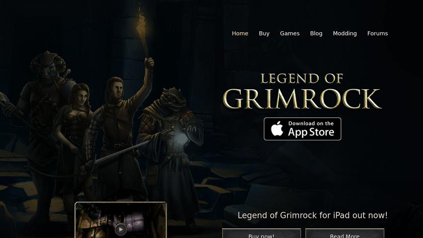 Legend of Grimrock Landing Page