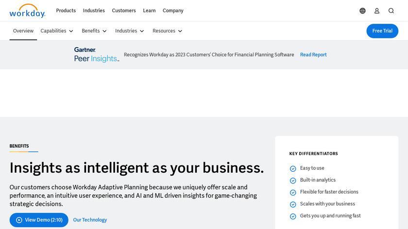 Adaptive Insights Landing Page