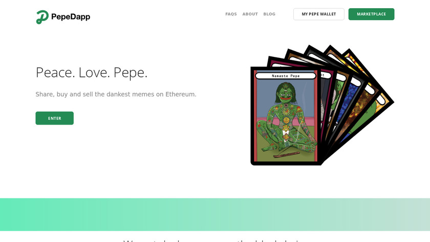 Pepe Dapp Landing Page