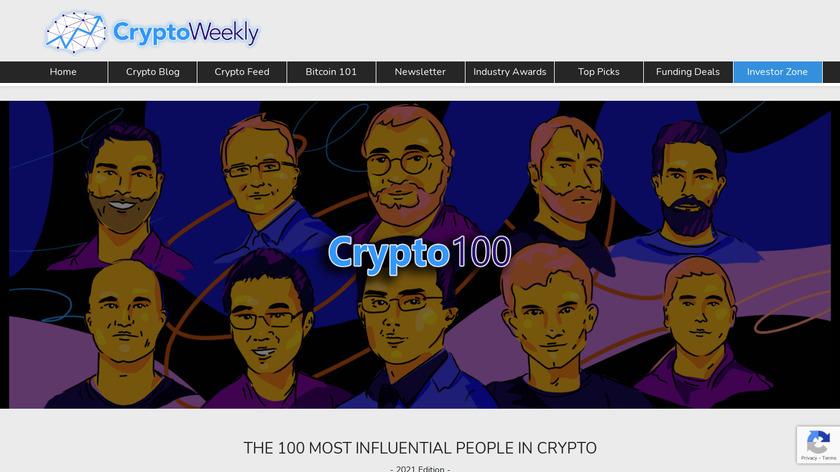 Crypto100 Landing Page