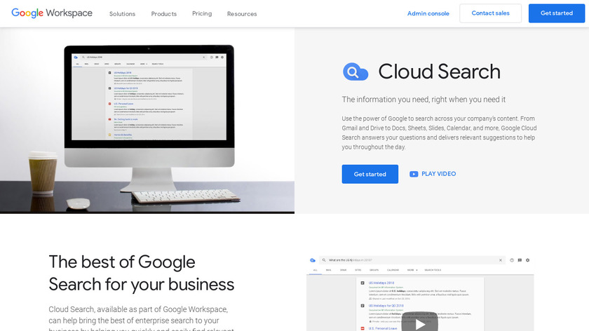 Google Cloud Search Landing Page