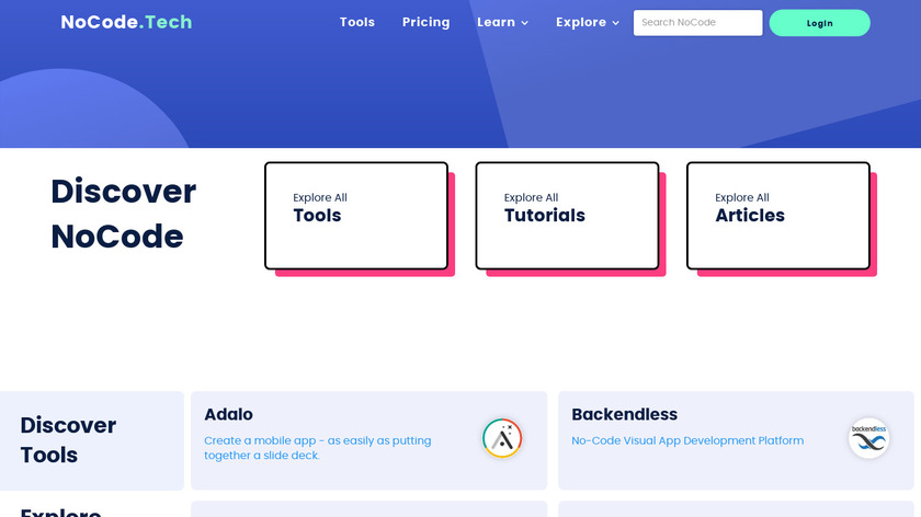 NoCode.tech Landing Page