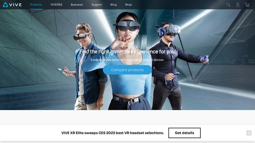 HTC Vive Landing Page