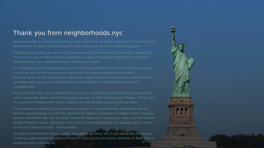 Neighborhoods.nyc Landing Page