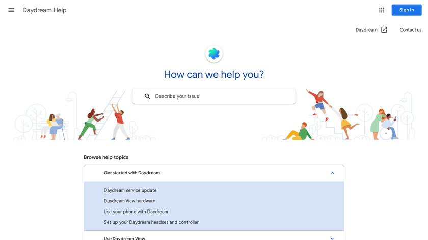 Daydream View by Google Landing Page