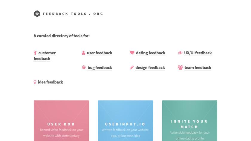 Feedback Tools Landing Page