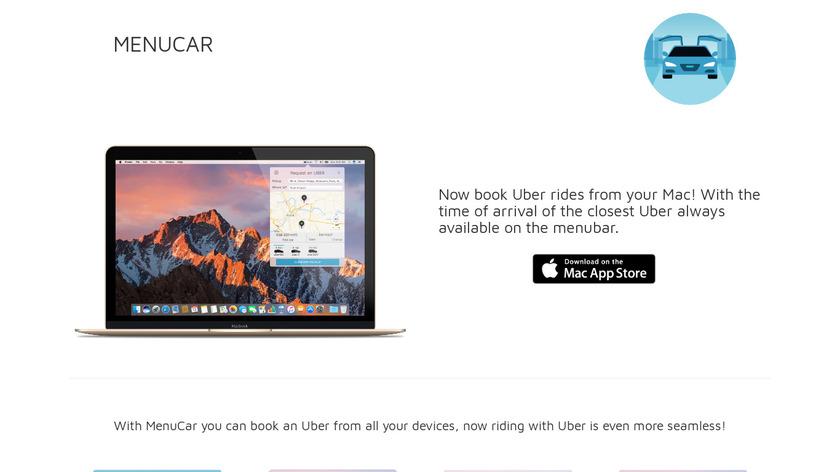 MenuCar for Uber Landing Page