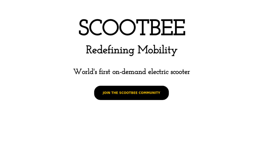 Scootbee Landing Page