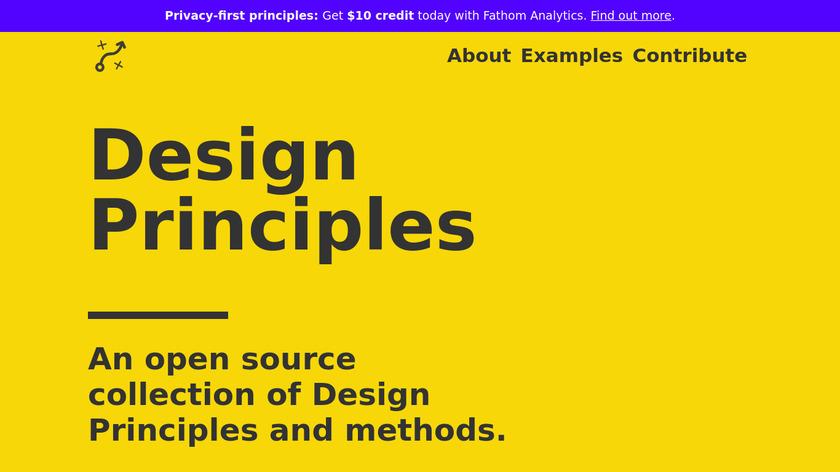 Design Principles Landing Page