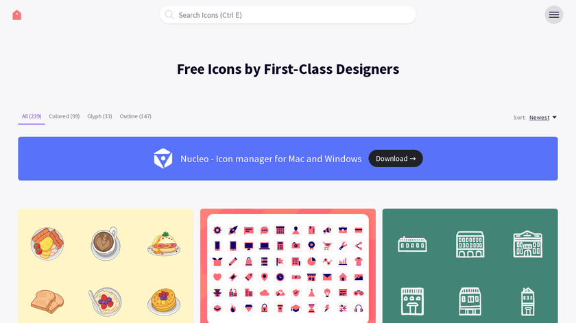 IconStore Landing Page