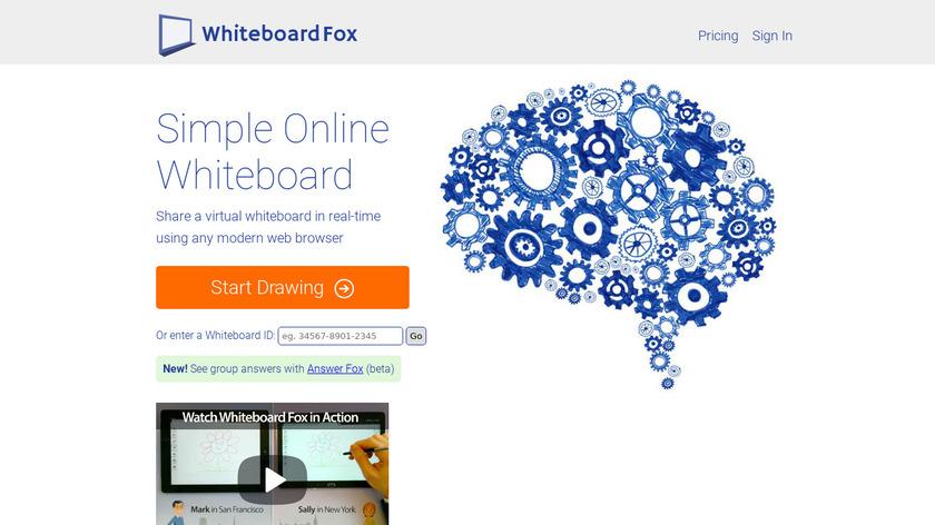 Whiteboard Fox Landing Page
