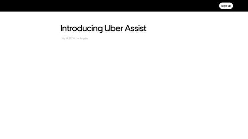 uberASSIST Landing Page