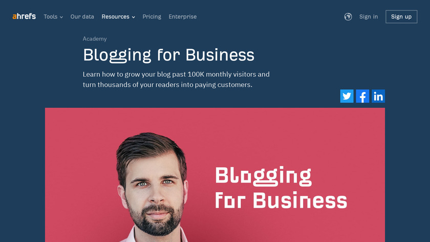 Blogging for Business Landing Page