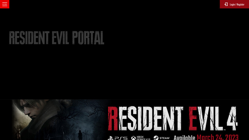 Resident Evil Landing Page