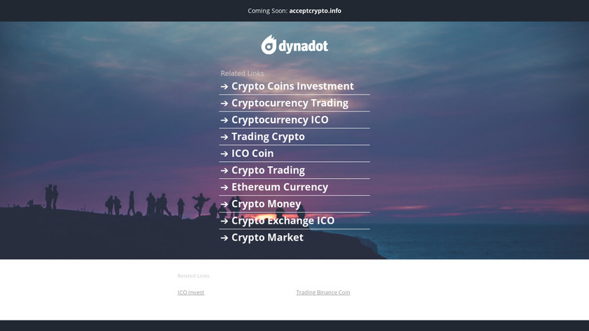 Accept Crypto Landing Page