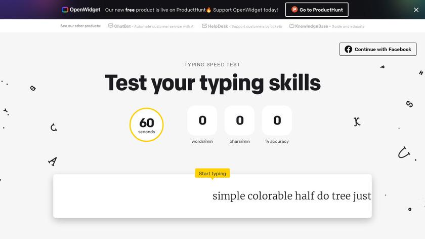 Typing Speed Test Landing Page