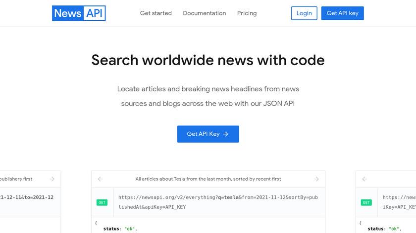 News API Landing Page