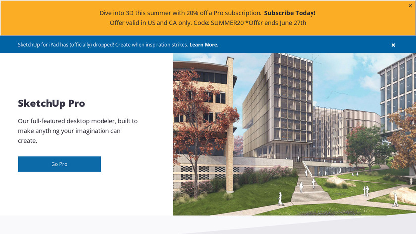 SketchUp Pro Landing Page
