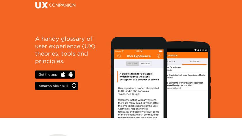 UX Companion Landing Page
