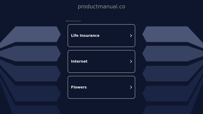 Product Manual Landing Page
