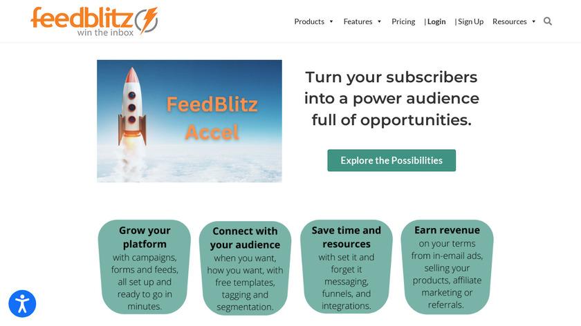 FeedBlitz Landing Page