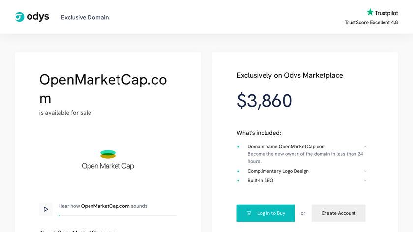 OpenMarketCap Landing Page