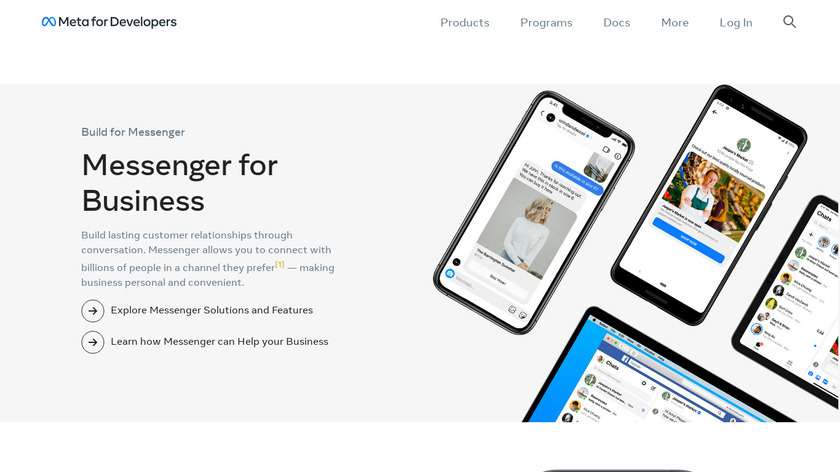 Business on Messenger Landing Page