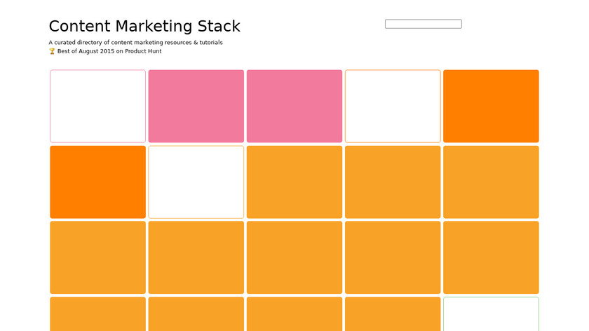 Content Marketing Stack Landing Page