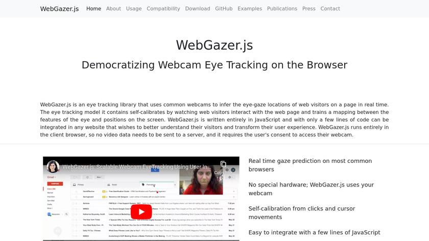 WebGazer.js Landing Page