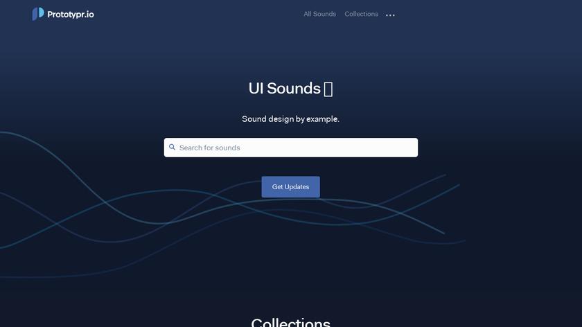 UI Sounds Landing Page