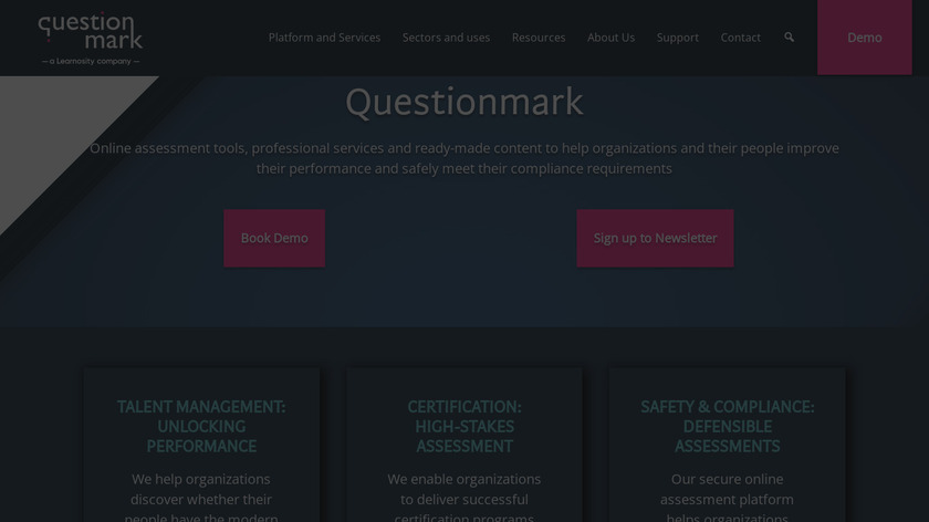 Questionmark Landing Page