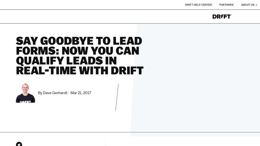 LeadBot by Drift Landing Page