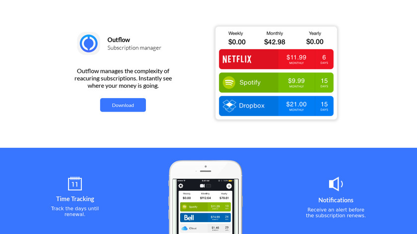 Outflow Landing Page