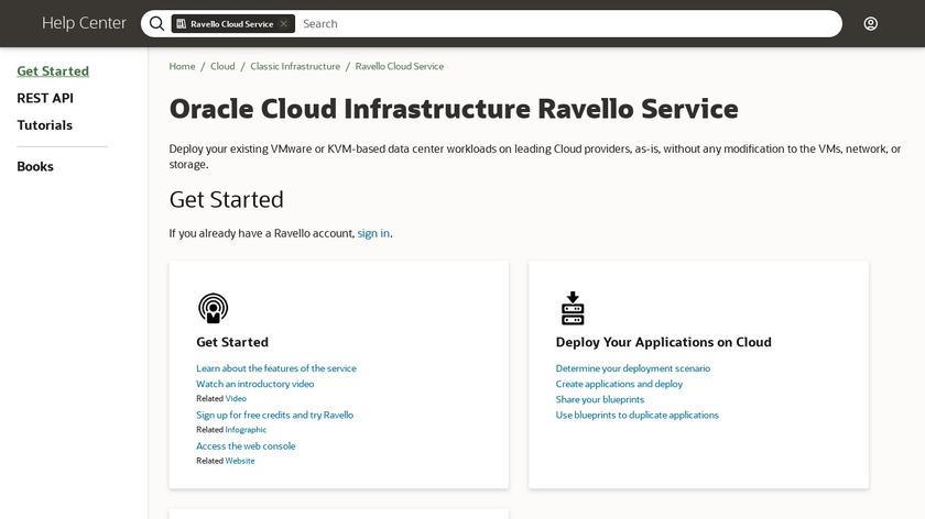 Ravello Landing Page