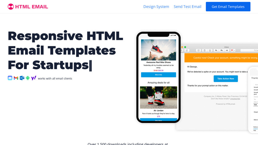 HTML Email Landing Page