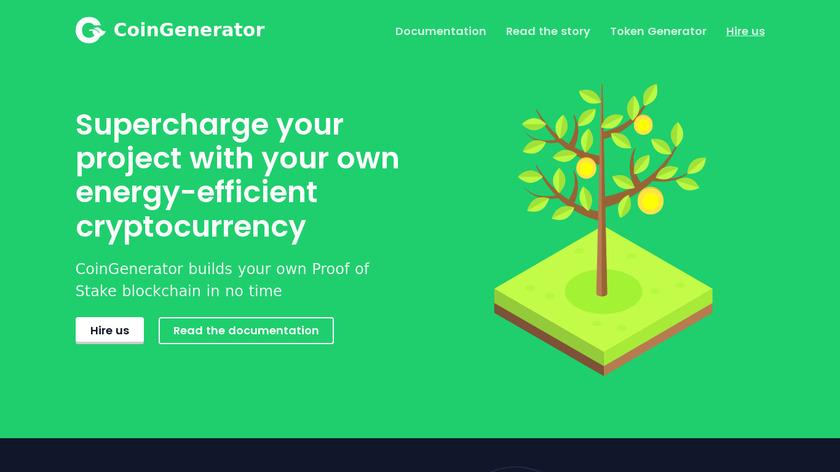 CoinGenerator Landing Page