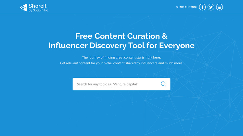 ShareIt by SocialPilot Landing Page