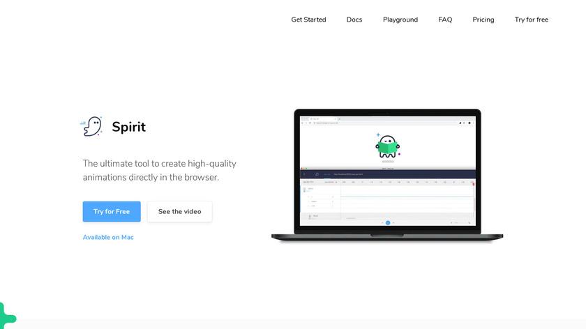 Spirit Landing Page