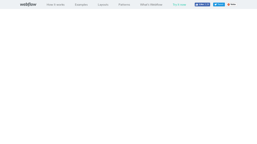 Webflow Flexbox UI Builder Landing Page