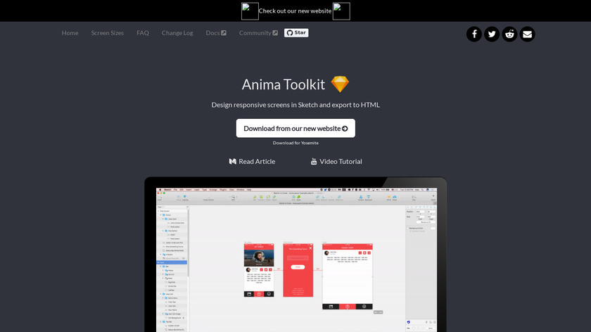 Auto-Layout for Sketch Landing Page