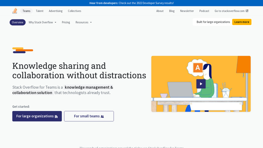 Stack Overflow for Teams Landing Page