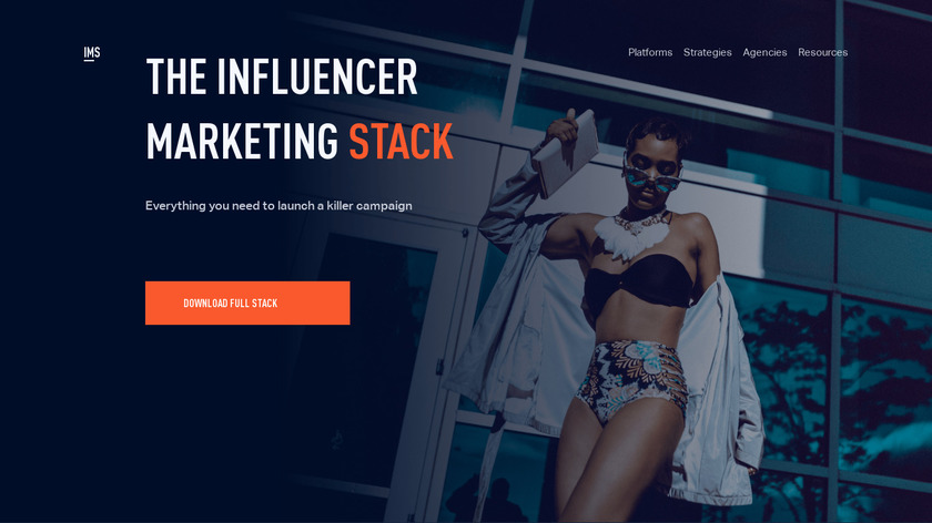 The Influencer Marketing Stack Landing Page
